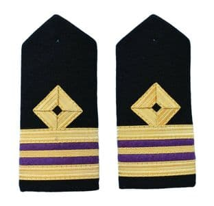Epaulette Merchant Navy Rank Marking Hard Curved For Engineers Lieutenant